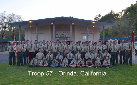 Orinda Boy Scout Troop 57  Orinda Intermediate School, Orinda CA